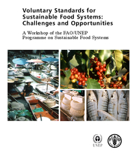 """Cover of """"FAO/UNEP Workshop on Voluntary Standards for Sustainable Food Systems"""""""