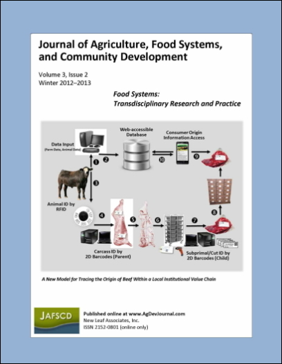 Cover of JAFSCD volume 3, issue 2