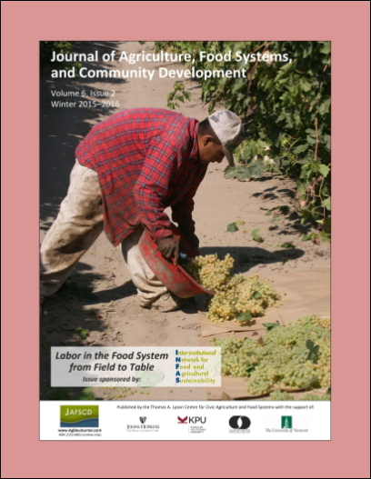Cover of JAFSCD volume 6, issue 2