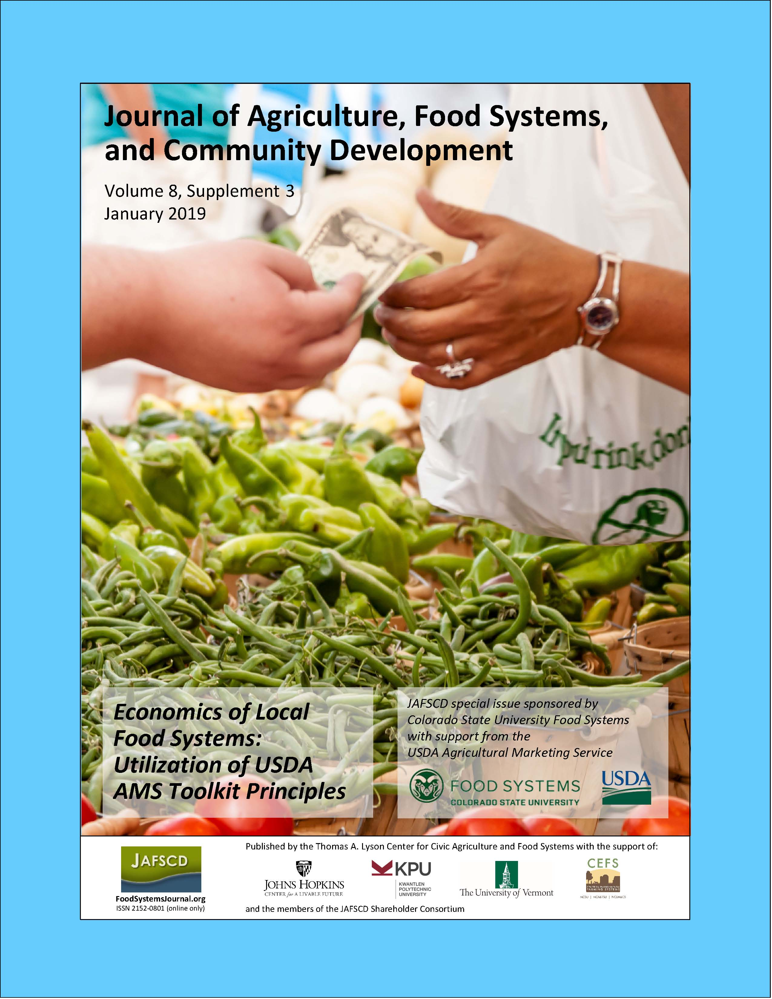 Cover of special issue on Economics of Local Food Systems: Utilization of USDA AMS Toolkit Principles