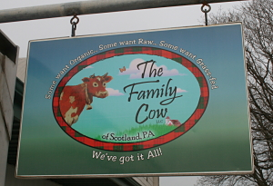 Family Cow sign