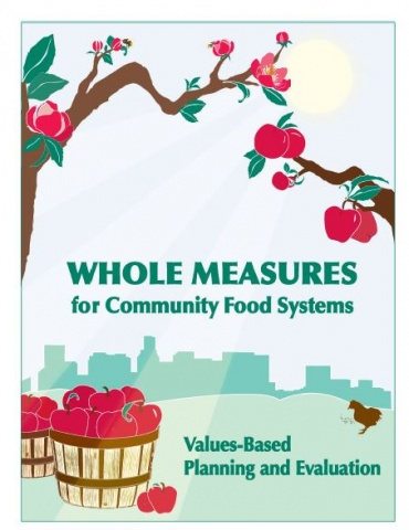 """Cover of """"Whole Measure for Community Food Systems: Values-Based Planning and Evaluation"""""""
