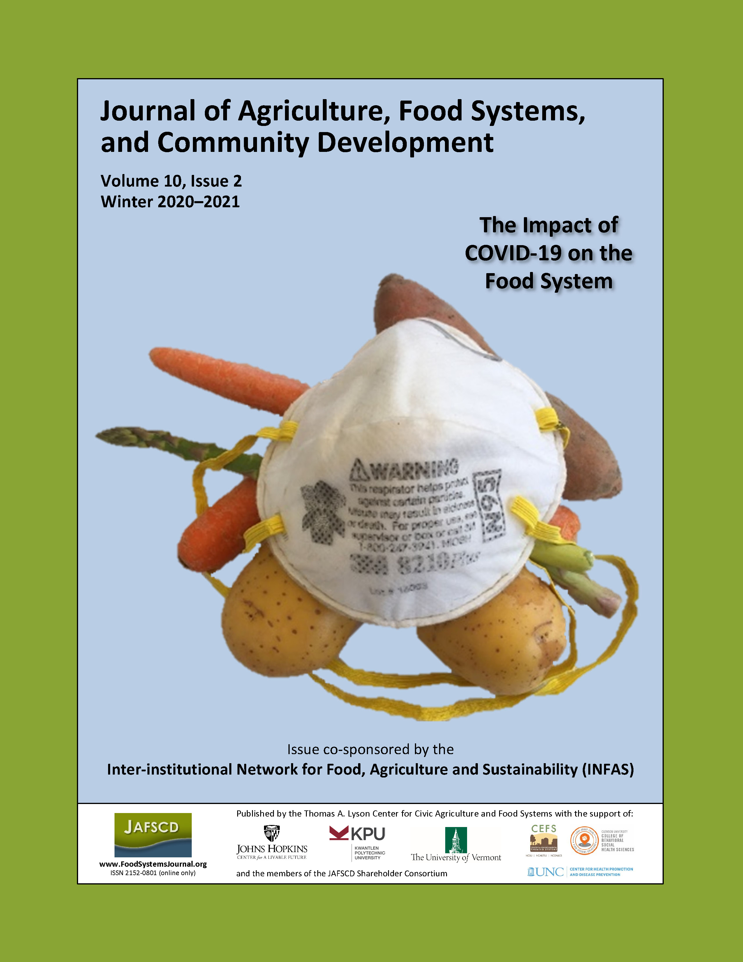 "Cover of winter 2020-2021 issue, ""The impact of COVID-19 on the food system"""