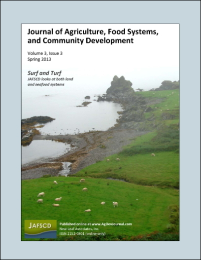 Cover of JAFSCD volume 3, issue 3