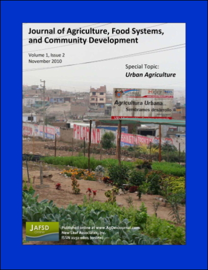 Cover of JAFSCD volume 1, issue 2