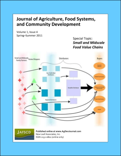 View Vol. 1 No. 4 (2011): Small and Midscale Food Value Chains