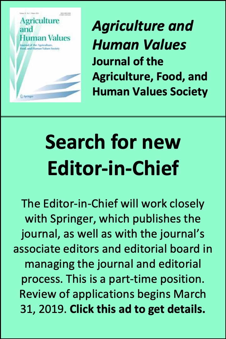 Voices from the Grassroots | Journal of Agriculture, Food Systems